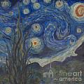 Starry Night Copy 8 by Avonelle Kelsey