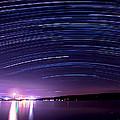 Starry Night On Cayuga Lake by Paul Ge
