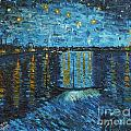 Starry Night Over The Rhone by Stefan Duncan