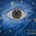 Starry Night With Eye  by Erendira Hernandez