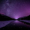 Starry Sky Illuminates Mountain by Ascentxmedia