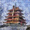 Starry Starry Pagoda Night by Trish Tritz