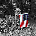 Stars And Stripes With Selective Color by James Brunker