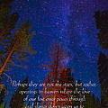 Stars Light Star Bright Fine Art Photography Prints And Inspirational Note Cards by Jerry Cowart