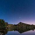 Stars Reflect In Cawfield Quarry by David Head