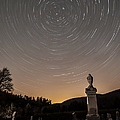 Stars Trails Over Cemetery by Susan Candelario