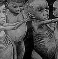 Starving Children Awaiting Relief Food by Kevin Ongany