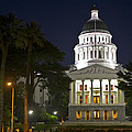 State Capitol At Night Sacramento by SC Heffner