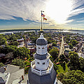 State House Beauty Over Annapolis by Mid Atlantic Aerial
