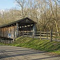 State Line Or Bebb Park Covered Bridge by Jack R Perry