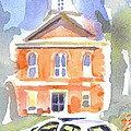 Stately Courthouse With Police Car by Kip DeVore