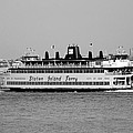 Staten Island Ferry In Black And White by Rob Hans
