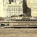 Staten Island Ferry In Sepia by Rob Hans