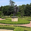 Statue In A Boxwood Garden by Christiane Schulze Art And Photography