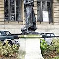 Statue In A Paris Park by Richard Rosenshein