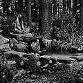 Statue Meditating. by Robert  C George