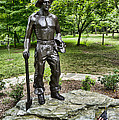 Statue Of A Ccc Boy At Gambrill State Park In Maryland by William Kuta