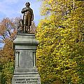 Statue Of Daniel Webster - Central Park by Allen Beatty