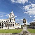 Statue Of King George II As A Roman Emperor In Greenwich by Roberto Morgenthaler