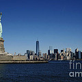 Statue Of Liberty And Manhattan by Traci Law