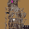 Statue Of Liberty Being Built 1876-1881 Paris Collage Pierre Petit                     by David Lee Guss