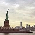 Statue Of Liberty With Manhattan by Christian Irizarry / Eyeem