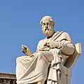 Statue Of Plato by George Atsametakis