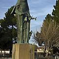 Statue Of Saint Clare Santa Clara Calfiornia by Jason O Watson
