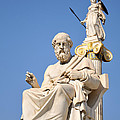 Statues Of Plato And Athena by George Atsametakis