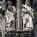 Statues Of The Aachen Cathedral Germany by Ronald Jansen