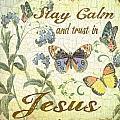 Stay Calm-trust In Jesus-2 by Jean Plout