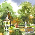 Ste. Marie Du Lac In Watercolor by Kip DeVore