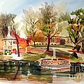 Ste. Marie Du Lac With Gazebo And Pond I by Kip DeVore