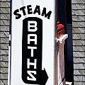 Steam Bath Sign by Kae Cheatham