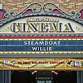 Steam Boat Willie Signage Main Street Disneyland 01 by Thomas Woolworth