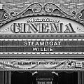 Steam Boat Willie Signage Main Street Disneyland Bw by Thomas Woolworth