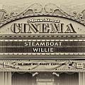 Steam Boat Willie Signage Main Street Disneyland Heirloom by Thomas Woolworth