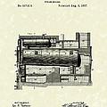 Steam Boiler 1887 Patent Art by Prior Art Design