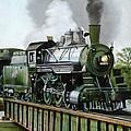Steam Engine Locomotive by Janet Guss