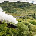 Steam Engine On Glenfinnan Viaduct by David Head
