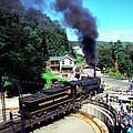 Steam Engine On Turnstile by Thomas R Fletcher