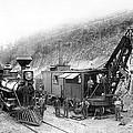 Steam Locomotive And Steam Shovel 1882 by Daniel Hagerman