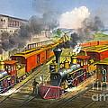 Steam Locomotives 1874 by Padre Art