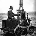 Steam Powered Rail Cart C. 1892 by Daniel Hagerman