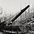 Steam Loader Loading Logs C. 1890 by Daniel Hagerman