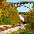 Steam Train Rounding The Curve by Kenneth Sponsler