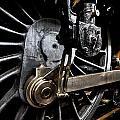Steam Train Wheels Close Up by Ken Brannen