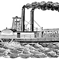 Steamboat, 19th Century by Granger
