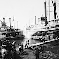 Steamboat Landing, 1906 by Granger