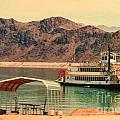 Steamer Along Lake Mead by Lisa Byrne